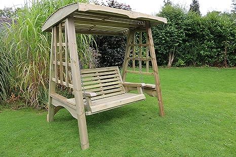 Dondolo Da Giardino In Legno : Dondolo da giardino in legno amaca mobili da giardino: amazon