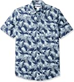 Amazon Essentials Men's Slim-Fit Short-Sleeve Print Shirt