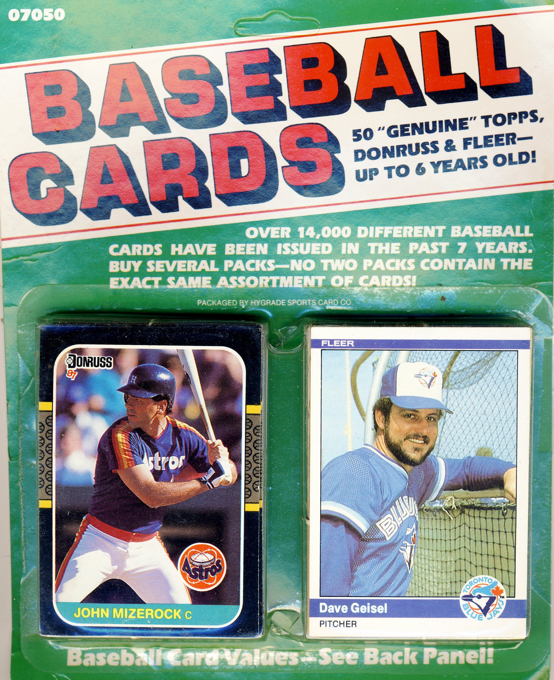 Baseball Cards 50 Genuine Topps Donrus And Fleer Up To 6 Years Old