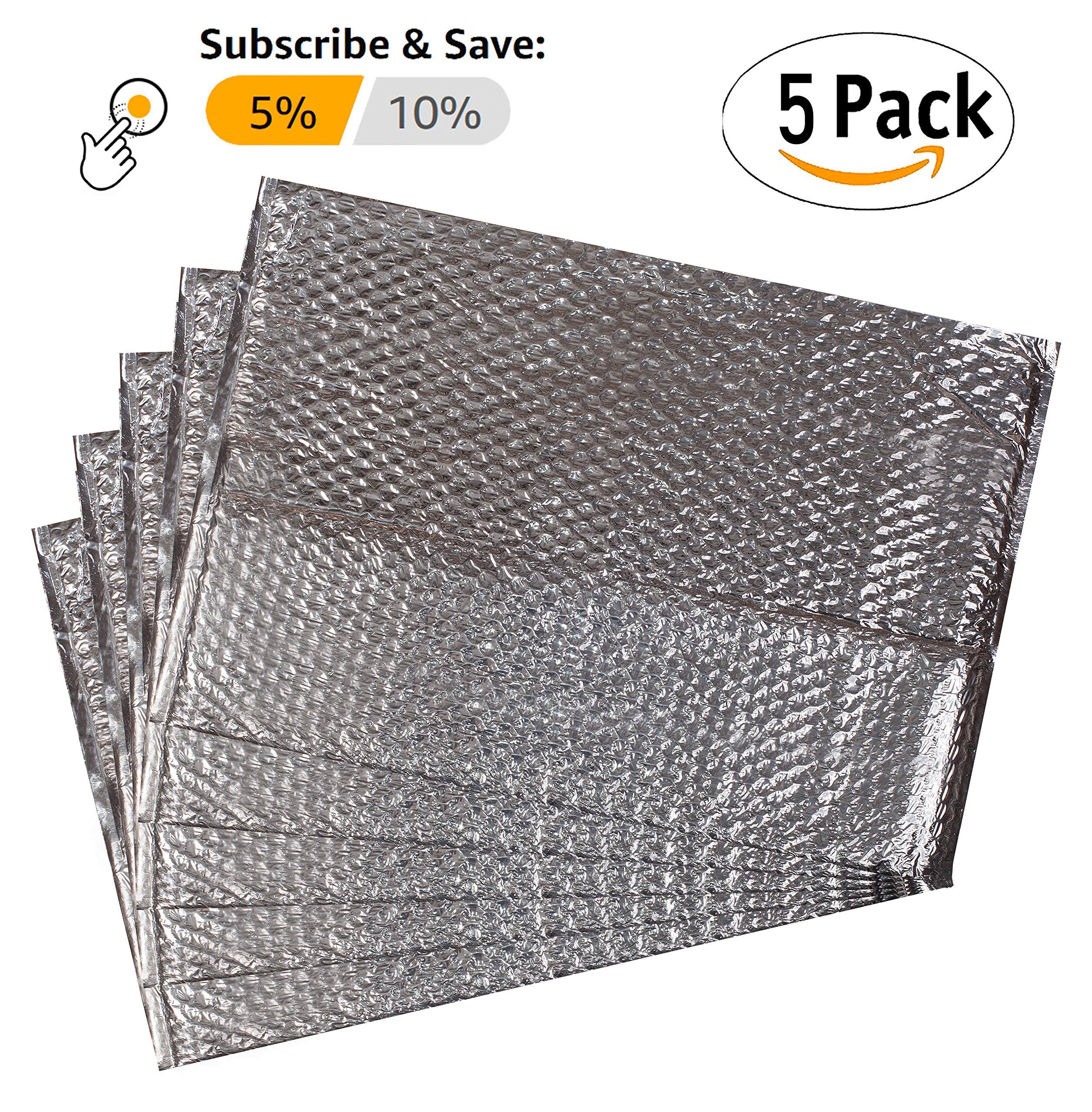 Pack of 5 Thermal Bubble Box Liners. Box Size 12 x 12 x 12. Gusseted Bottom Liners. Insulated Liners for Shipping Temperature Sensitive Products. Leak Resistant. Wholesale Price. by ABC Pack & Supply (Image #3)