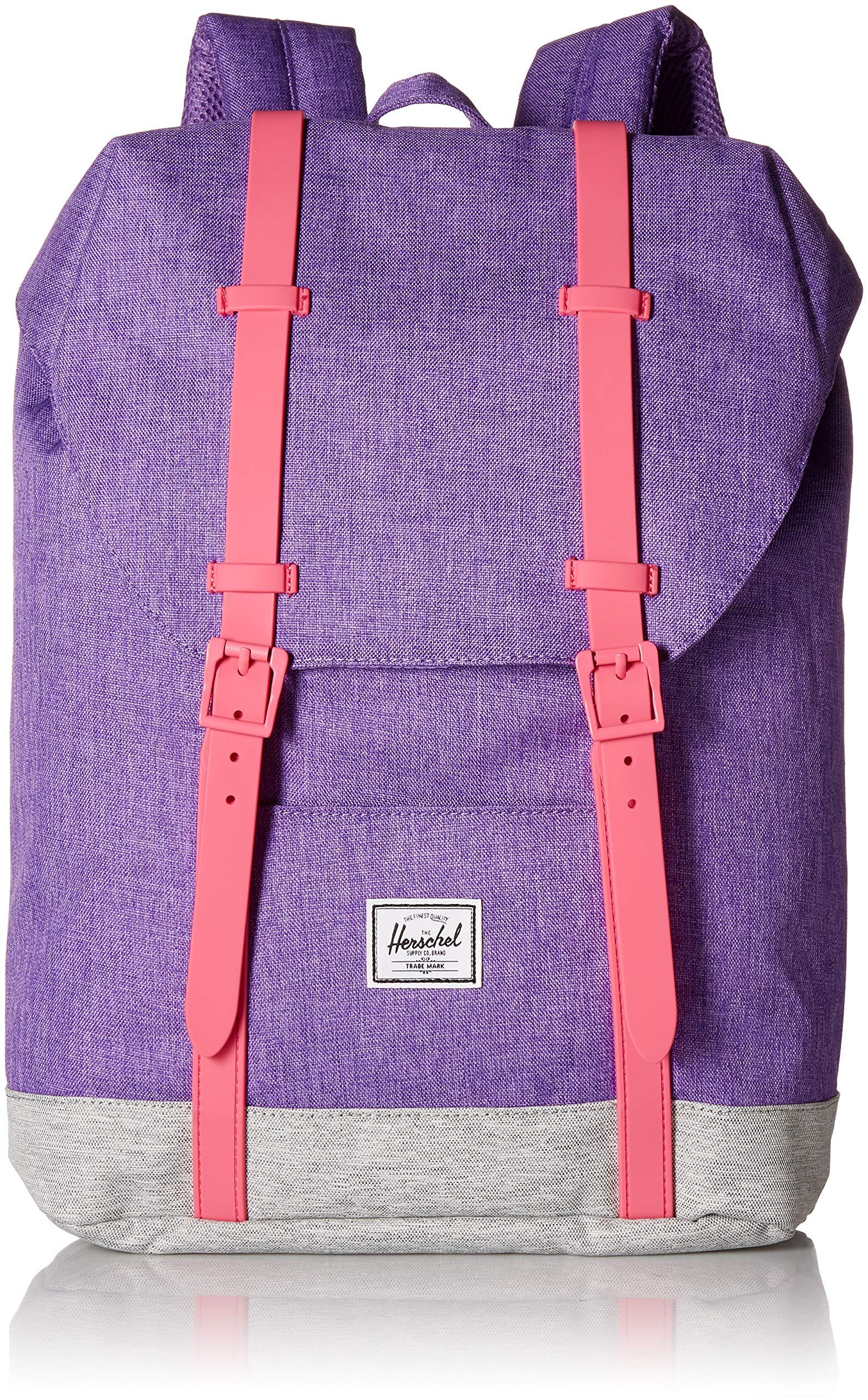 Galleon - Herschel Supply Co. Kids  Retreat Youth Children s Backpack, Deep  Lavender Light Grey Crosshatch Fandango Pink, One Size 755a06f310