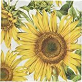 Abbott Collection Jumbo Sunflower Paper Napkins, Large (20 pack)