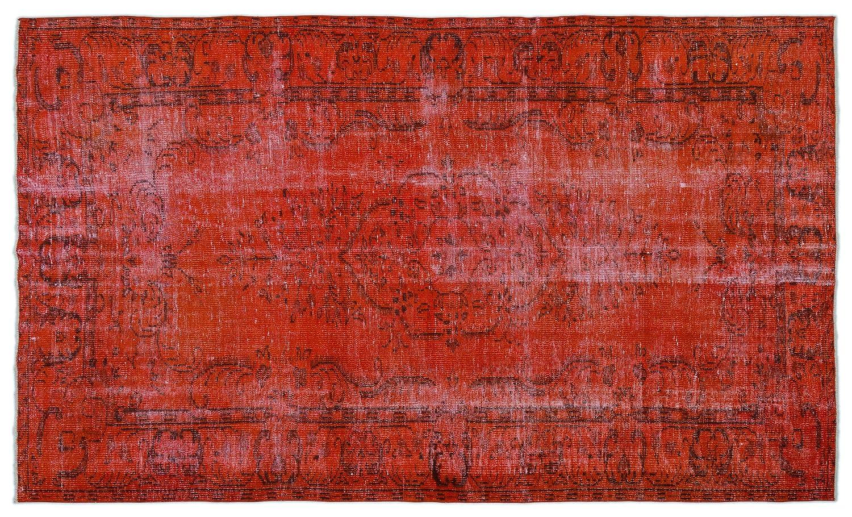 Bespoky ビンテージ 手織 ラグ 赤 大きいサイズ 176 X 293 Cm   B07HKZXWXW