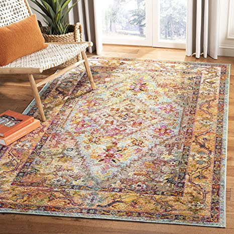 Magnificent Safavieh Crystal Collection Crs507A Light Blue And Orange Bohemian Distressed Area Rug 4 X 6 Frankydiablos Diy Chair Ideas Frankydiabloscom
