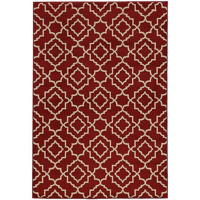 Amazon.com: Oriental Weavers Ella 5185E Area Rug, 53 x 73 ...