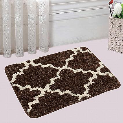 Saral Home Soft Anti Slip Microfiber Bathmat- 40x60 cm, Brown