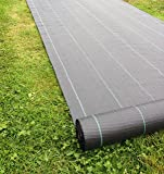 Yuzet 09-001006-01-01 2m x 50m 100g Weed Control Ground Cover Membrane Landscape Fabric Heavy Duty