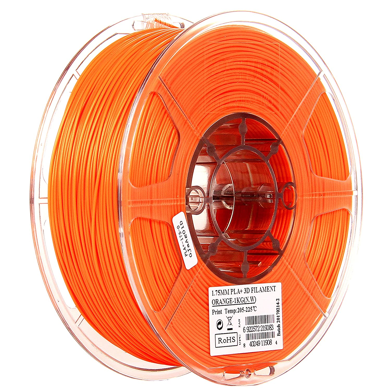eSUN 1.75mm Orange PLA PRO (PLA+) 3D Printer Filament 1KG Spool (2.2lbs), Orange