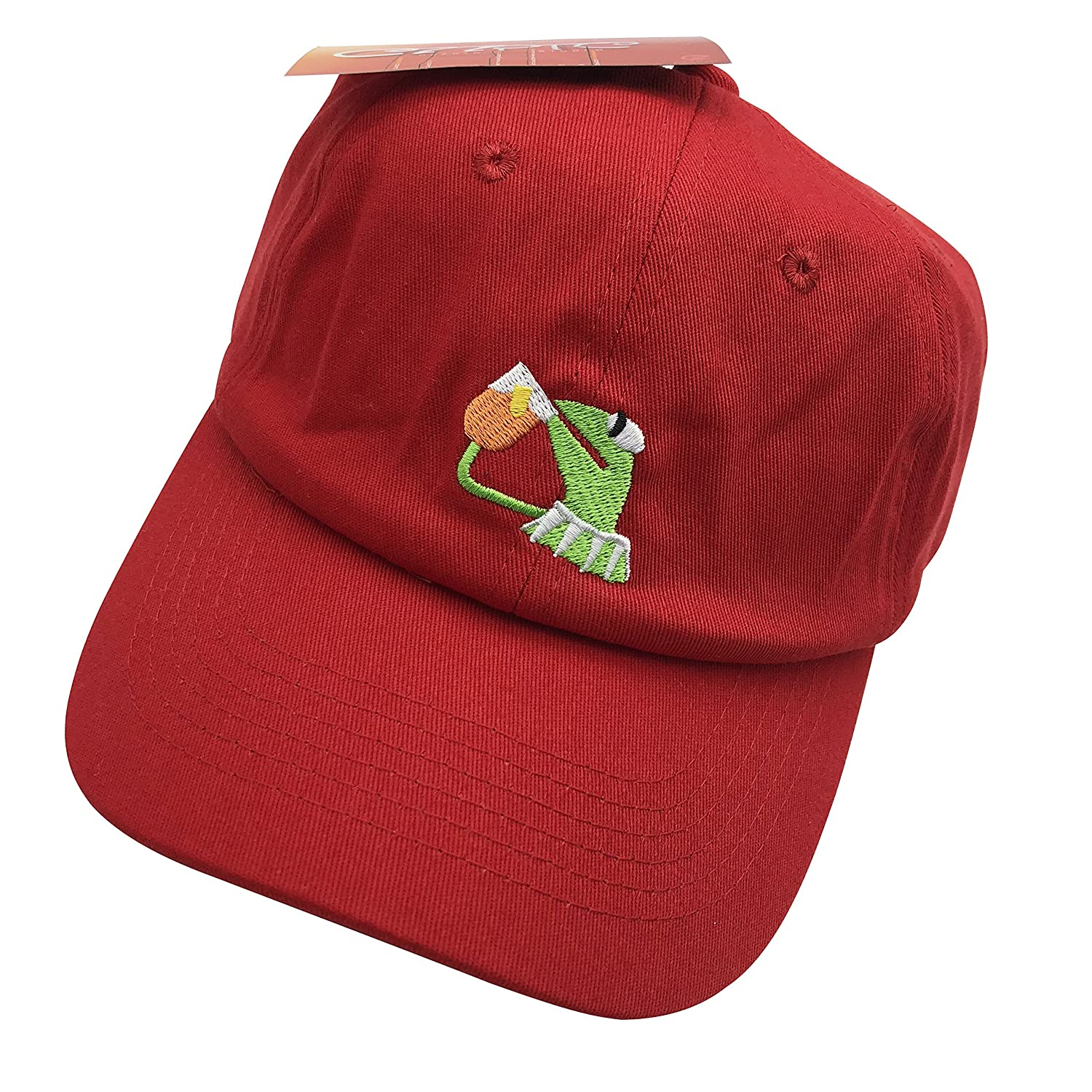 308d1f1100e Kermit The Frog Dad Hat Baseball Cap Sipping Sips Drinking Tea Champion  Adjustable Black 7lop104a