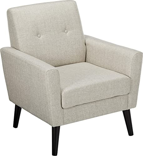 Christopher Knight Home Sierra Mid Century Beige Fabric Club Chair