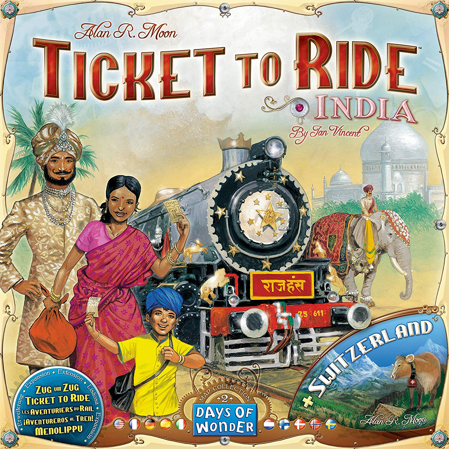 Ticket To Ride India Map.Amazon Com Ticket To Ride India Map Collection Two Toys Games