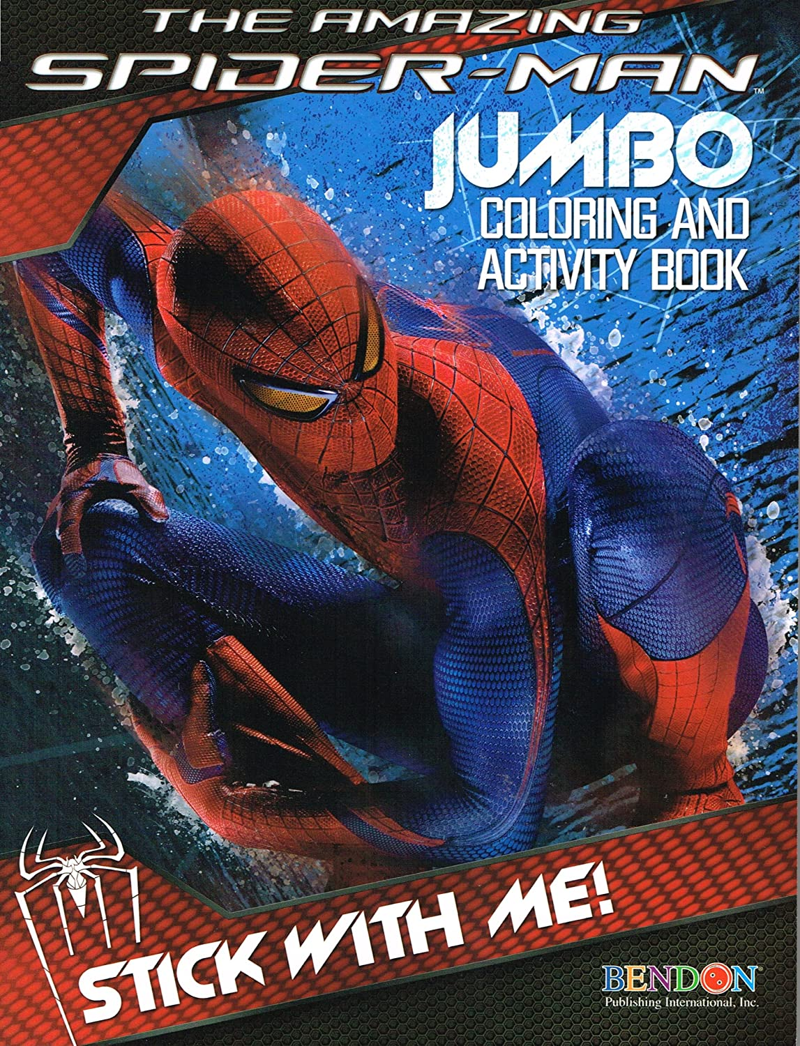 amazon com the amazing spider man jumbo coloring u0026 activity book
