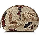 Signare sac à cosmétiques en toile tapisserie mode femme différents modèles (mademoiselle Londres)