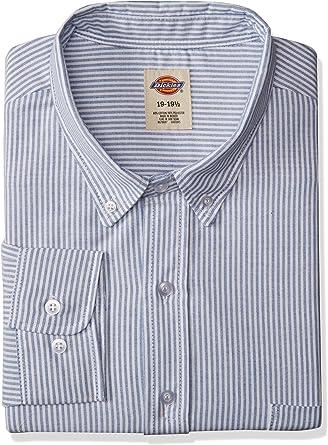 Dickies Workwear ss36bs ocupacional 155rg poliéster/algodón camisa de button-down de manga larga Oxford para hombre, 15 – 1/2