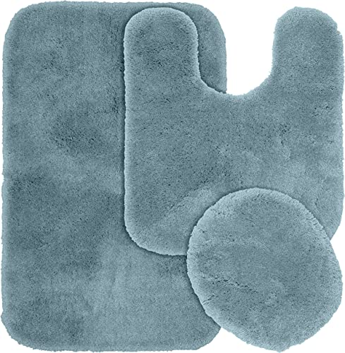 Garland Rug 3-Piece Finest Luxury Ultra Plush Washable Nylon Bathroom Rug Set