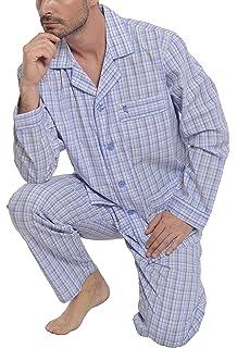 El Búho Nocturno Pijama de Caballero | Pijama de Hombre de Manga Larga clásico a Cuadros