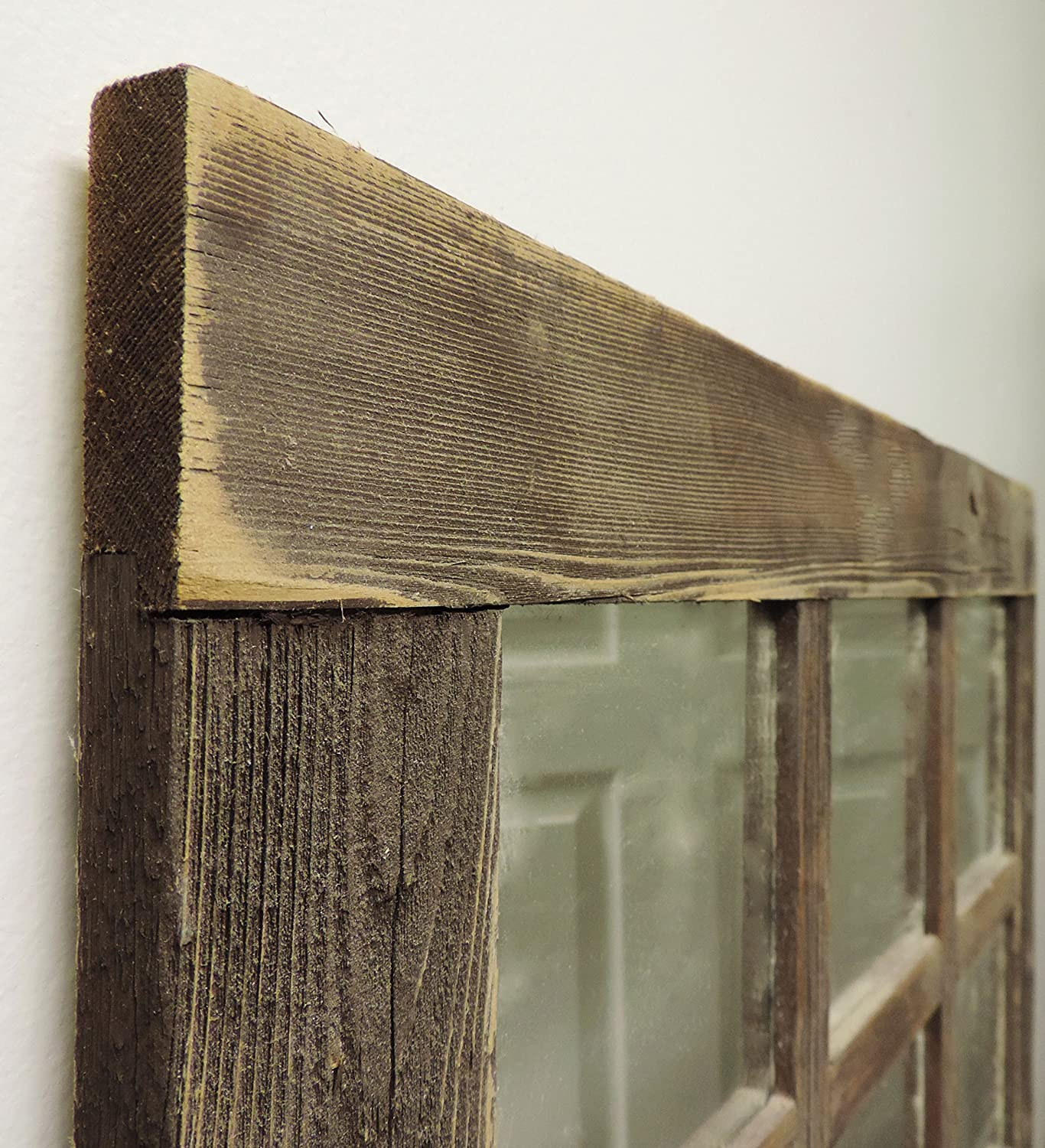 Rustic Barnwood Window Mirror 24 X 24 (9 pane)