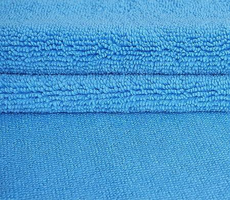 Gryeer Premium 8er Set Randloses Mikrofasertücher Ultraweich Für Perfekte Auto Lackpflege Poliertuch Trockentuch 450gsm 40x40cm Blau Auto
