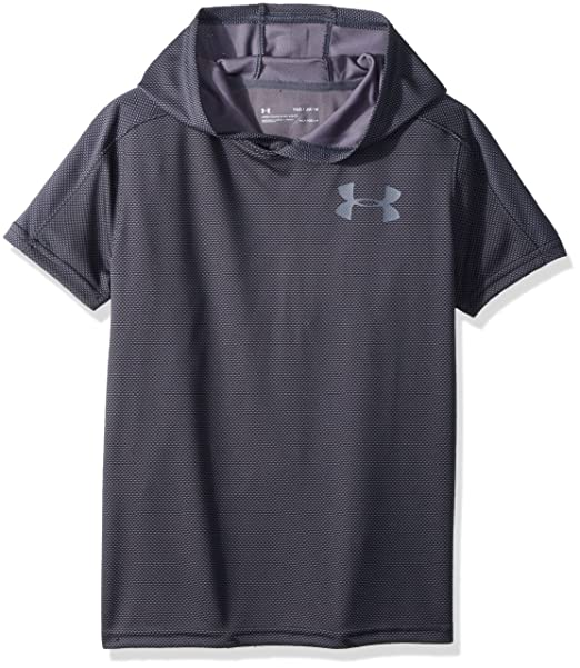 78bee354a Amazon.com: Under Armour Boys Tech Textured Shorts Sleeve Hoodie: Clothing