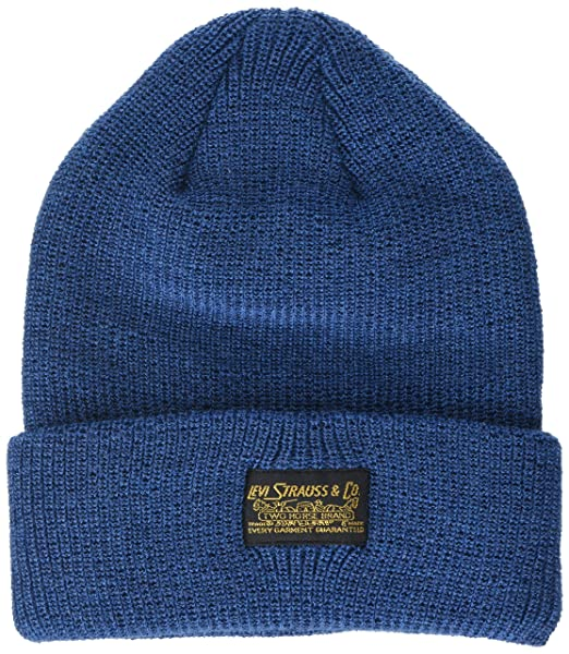d5925a3a13dff Levi s Unisex 2 Horse Logo Turn Up Beanie Royal Blue  Amazon.ca  Clothing    Accessories