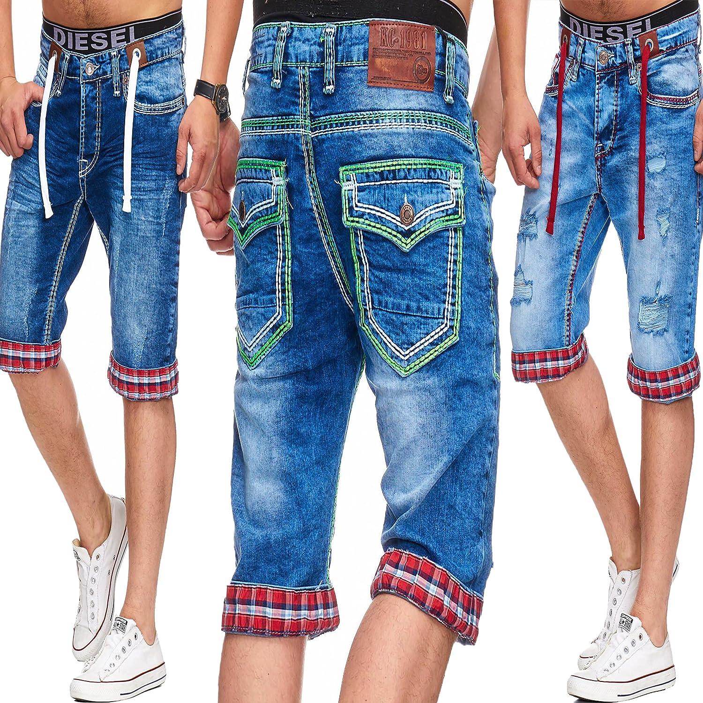 72e276ae311f L.Gonline Herren Jeans Bermuda f ü r Den Sommer   Shorts mit Taschen ...