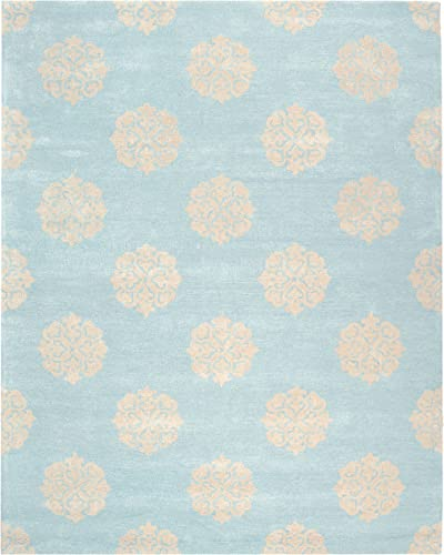 Safavieh Soho Collection SOH724A Handmade Turquoise and Yellow Premium Wool Area Rug 12 x 18