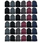 Yacht & Smith Winter Beanies, Wholesale Bulk Cold Weather Thermal Warm Stretch Skull Cap, Mens Womens Unisex Hat