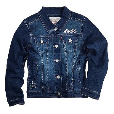 Amazon.com: Levi's Girls' Denim Classic Trucker Jacket: Outerwear ...