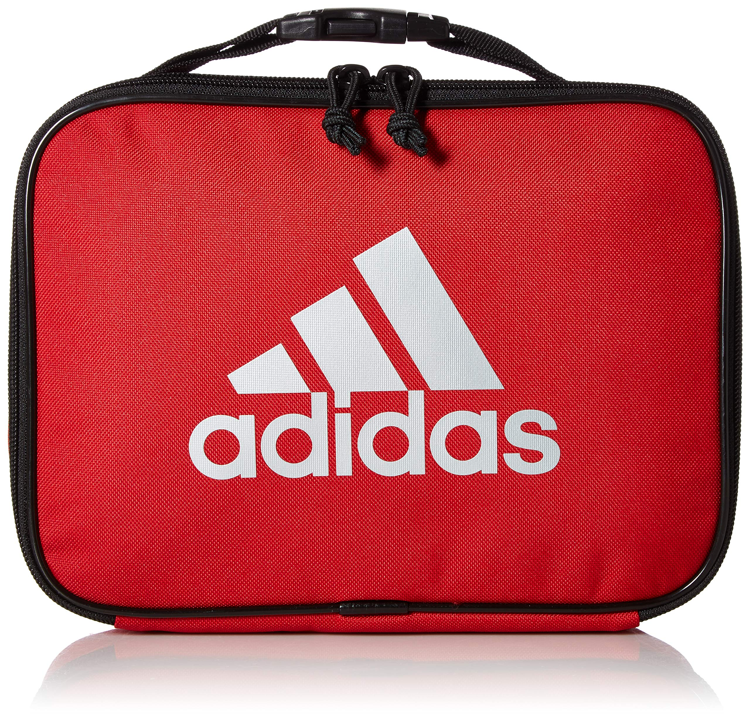 adidas Unisex Foundation Insulated Lunch Bag, Scarlet/Black/Silver, ONE SIZE