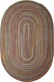 product image for Colonial Mills Braided Rug, 5x8, Classic Multi