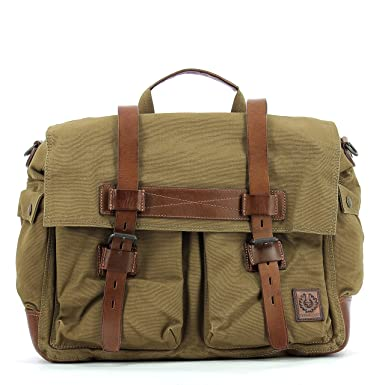 2dcda2de2d Men's Shoulder Bag BELSTAFF 75610375 Colonial Messenger Mountain Brown  Canvas