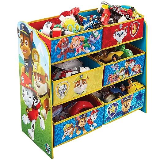 Paw Patrol Regal Zur Spielzeugaufbewahrung Mit Sechs Kisten Fur