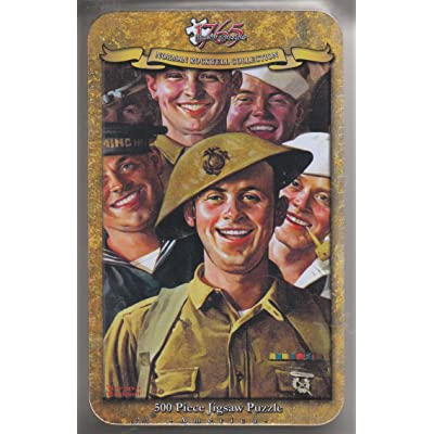 Norman Rockwell: Are We Downhearted? - 500Pc Jigsaw Puzzle In A Tin By Serendipity: Toys & Games