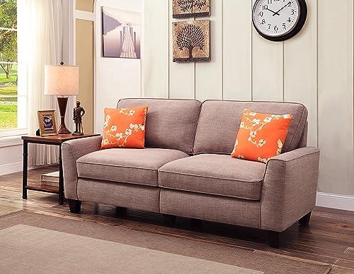 Serta RTA Astoria Collection 73 Sofa in Church Brick Tan,