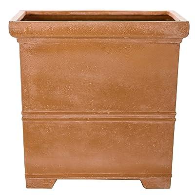 Martha Stewart Garden, Square False Bottom Planter, 12 Inch, Terracotta : Garden & Outdoor