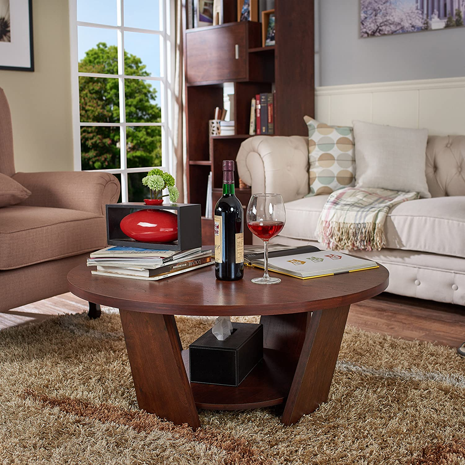 amazoncom hokku designs walter coffee table kitchen  dining -