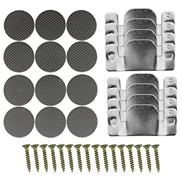 Miraculous Universal Sectional Sofa Connector Brackets 8 Pack Complete Set With Screws And Furniture Pads Gmtry Best Dining Table And Chair Ideas Images Gmtryco