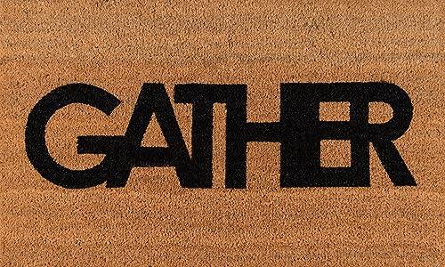 Novogratz Aloha Collection Gather Doormat, 1 6 x 2 6 , Natural Brown