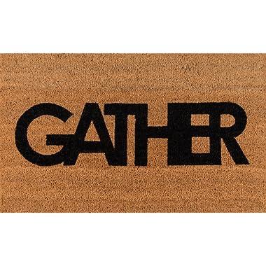 Novogratz Aloha Collection Gather Doormat, 1'6  x 2'6 , Natural Brown