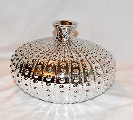Amazon New 9 Silver Chrome Sea Urchin Shell With Bottle Neck