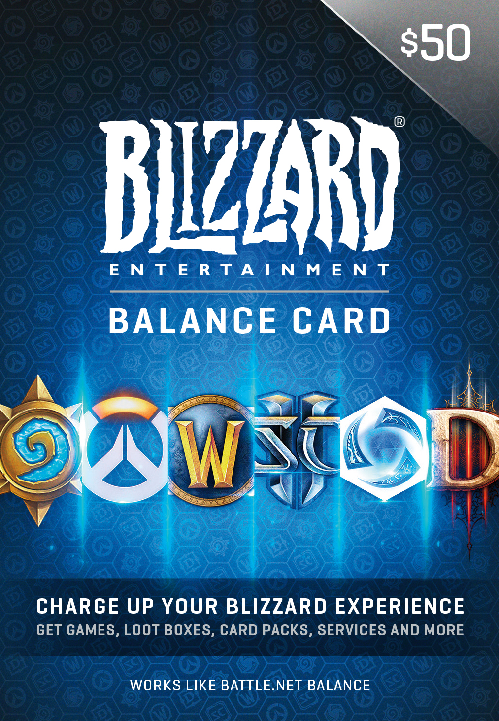 $50 Battle.net Store Gift Card Balance [Online Game Code] by Blizzard Entertainment