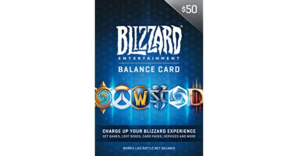 Amazon Com 50 Battle Net Store Gift Card Balance Online Game Code