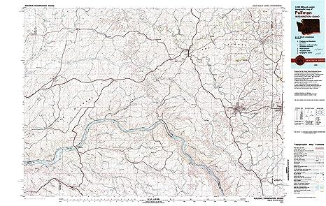 Amazon Com Yellowmaps Pullman Wa Topo Map 1 100000 Scale 30 X 60