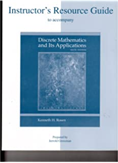 Amazon discrete mathematics instructors manual instructors resource guide to accompany discrete mathematics and its applications sixth edition fandeluxe Image collections