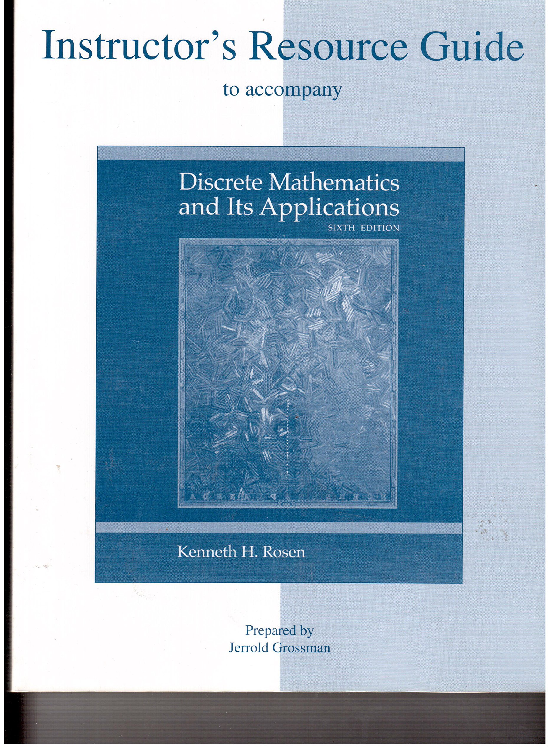 Pdf 1669 Discrete Math Rosen Student Solutions Manual Syllabus
