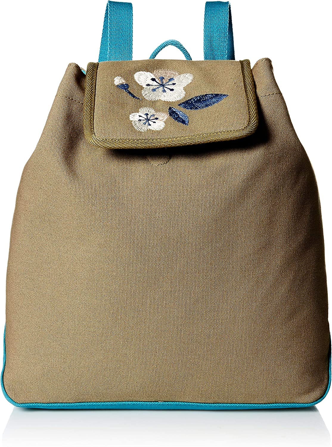 Life is Good Women's Wayfarer Backpack Blooming Pansy, Fatigue Green, One Size