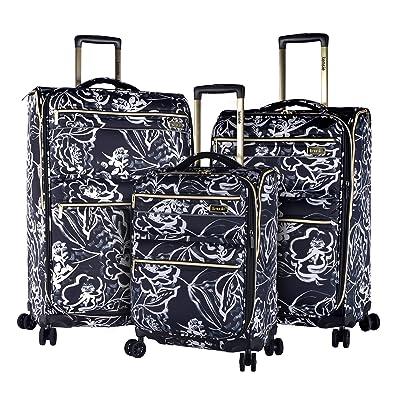 70%OFF kensie Night Flower 3 Piece Designed Luggage Set