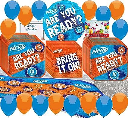 Amazon.com: Nerf Party Supplies - Juego de platos de ...