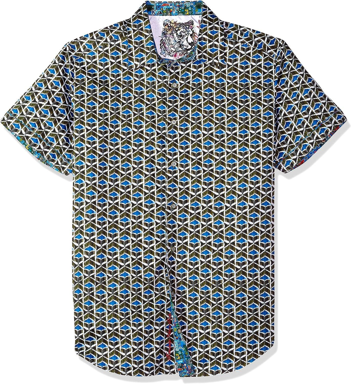 Amazon Com Robert Graham Men S Robert Grahamtames Short Sleeve Classic Fit Shirt Clothing