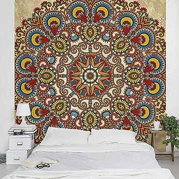 fotomural coloured mandala mural cuadrado papel pintado fotomurales murales pared